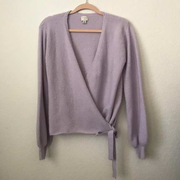 Target Sweaters - Lavender Wrap Sweater